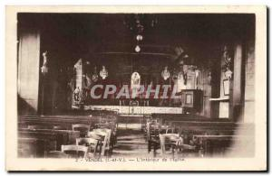 Old Postcard Vendel The Interior of the Church