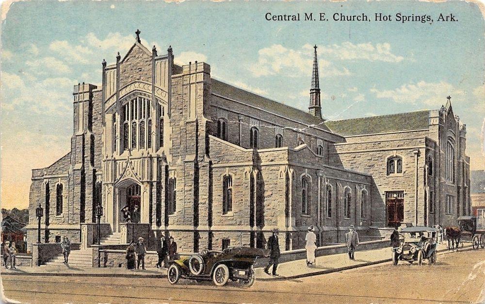 Hot Springs Arkansas~Central Methodist Episcopal Church~1910