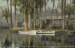 ORMOND , Florida , 1900-10s ; Boat Landing & Cabin , Upper Tomoka River