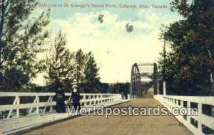 Canada Calgary, Alta St. George's Island Park