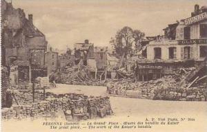 France Peronne La Grand Place Euvre des bandits du Kaiser