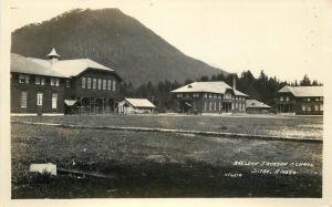 C-1910 Sheldon Jackson School Sitka Alaska RPPC real photo postcard 7986