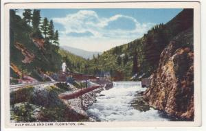 PC5 JLs postcards pulp mill dam steam railroad floriston ca