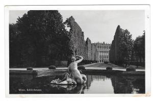 RPPC Austria Vienna Wien Schonbrunn Palace Fountain AG Vntg Real Photo Postcard
