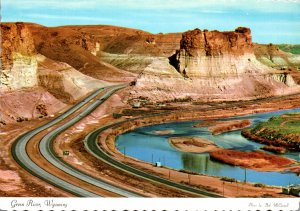 Wyoming Green River Showing Palisades Toll Gate Rock Green River and Intertst...