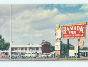 Pre-1980 RAMADA MOTEL Amarillo Texas TX M5544