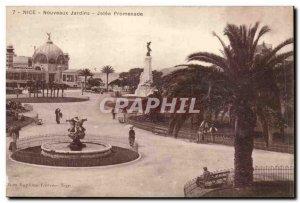 Postcard Old Nice New Gardens Jetee walk