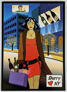 2000s Sherry Loves New York Advertising Postcard Tio Pepe Dry Sack Lustau Palo