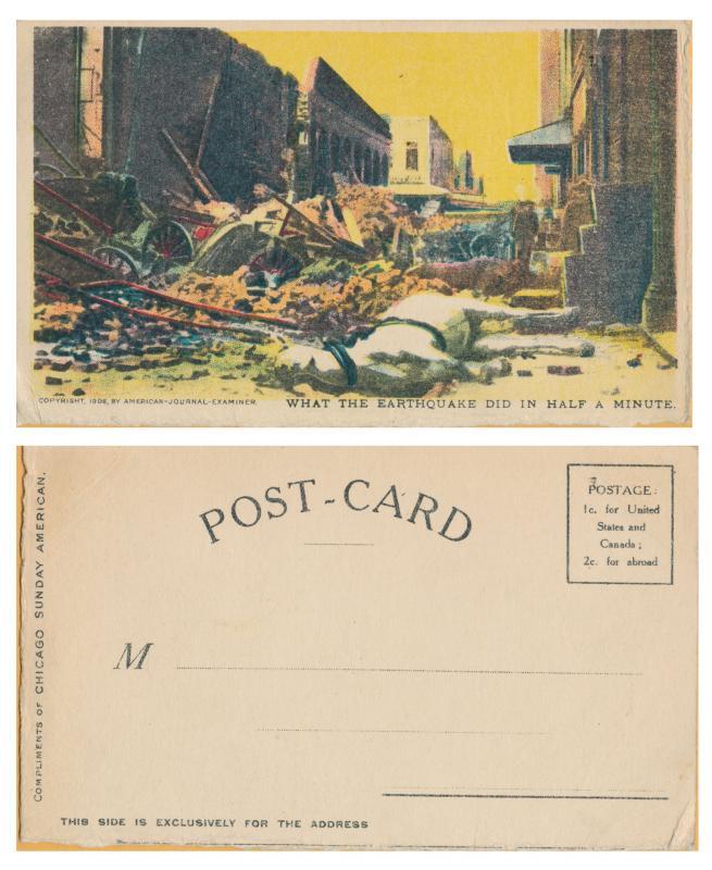 San Francisco- Earthquake Damage - Copyright 1906 American