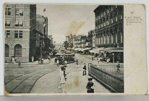 Washington DC F and 9th Streets N.W. 1908 Philomont Va to Bluemont Postcard K2