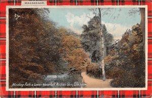Winding Path & Lower Waterfall, Rouken Glen Glasgow Scotland, UK Unused