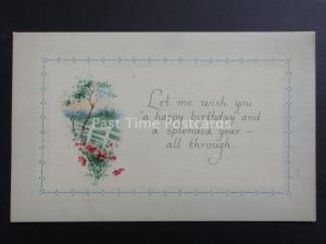 Old Poppies Postcard: LET ME WISH YOU A HAPPY BIRTHDAY...  - Donation to R.B.L.