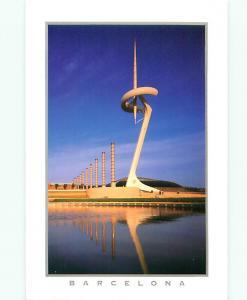 Barcelona Spain Torre de Telecommunications Montjuic Santiago   Postcard  # 7639