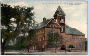 PASO ROBLES, CA  New HIGH SCHOOL Culture & Education  PCK 1909 Postcard