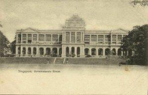 singapore, Government's House (1899) Postcard