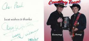 Tommy Vinson Tony Western Country & Western Music Rare Hand Signed Picture Photo