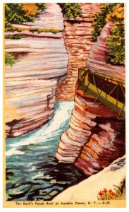 New York  Ausable Chasm ,Devils Punch Bowl