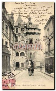 Loches Postcard Old City Hall and the door Picois