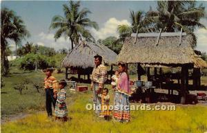 Seminole Indian Family Florida, FL, USA Unused