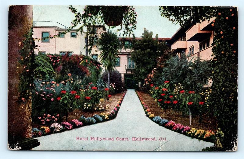 Postcard CA Hollywood Hotel Hollywood Court Pre 1920s H06