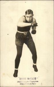 US Navy Middleweight Boxing Champion Eddie McCabe c1915 RPPC myn