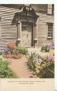 America Postcard - Doorway - Stockbridge Mission House -1739 - Mass - Ref 16397A