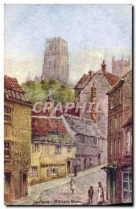 Postcard Old Durham Milburn Gate