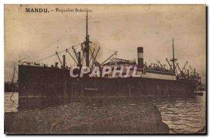Postcard Old Ship Ship Brazilian Brazil Brazil Mandu