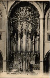 CPA Rodez - Les Grandes Orgues de la Cathedrale (475010)