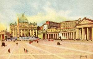 Italy - Rome,  Square of St. Peter & the Vatican