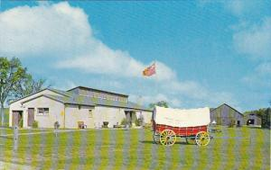 Canada Main Museum Building and Conestoga Wagon Pioneer Village Doon Ontario