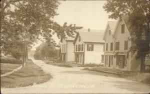 Milbridge ME Bridge St. Homes c1910 Real Photo Postcard