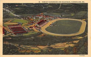 View of Fairground and Racetrack Cumberland, MD, USA Horse Racing Unused