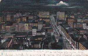 Bird's Eye View in Moonlight - Rochester NY, New York - pm 1906 - UDB - Tuck