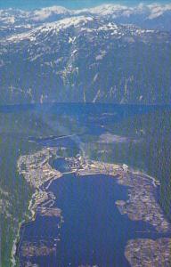 Canada Birds Eye View Ocean Falls British Columbia