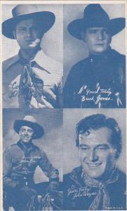 Cowboy Arcade Card Don Barry Buck Jones Alan Lane John Wayne