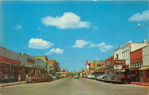 Kingsville Texas~Main Street~Storefronts~Franklin's~5-10-25c Store~50s Cars
