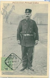 02415 ETHNIC vintage postcard: PORTUGAL - LISBOA: POLICEMAN