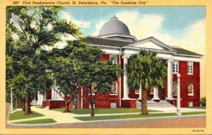 Florida St Petersburg First Presbyterian Church Curteich