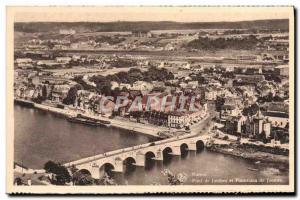 Old Postcard Namur Bridge and legs Legs panorama