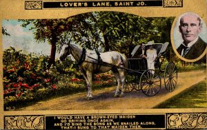 Missouri St Joseph Lover's  Lane Eugene Field Horse and Carriage