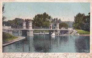 Massachusetts Boston Lake And Bridge Public Gardens 1908