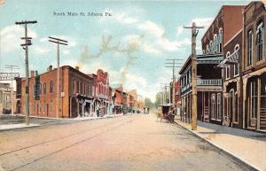 Athens Pennsylvania~South Main Street~Bicycle at Billiards Pool Hall~1910 PC