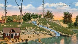 WI - Milwaukee, Washington Park, Monkey Island