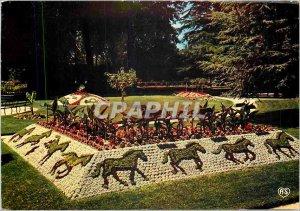 Modern Postcard Coutances (Manche) Floral public garden