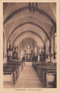 France Champenoux Interieure de l'Eglise