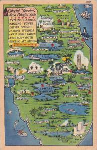 Map Of Florida Showing Attractions