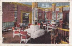 New York Niagara Falls Indian Room Hotel 1945