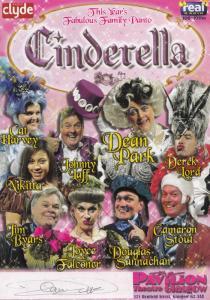 Cat Harvey of Clyde Heart Radio Scotland Cinderella Hand Signed Theatre Flyer