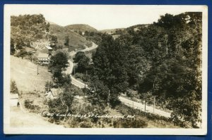 US Highway 40 - 6 miles east of Cumberland Maryland md Real Photo postcard RPPC